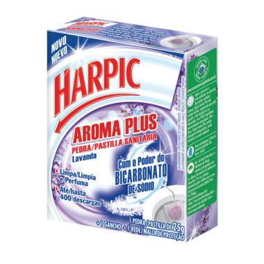 Bloco Sanitário Harpic Aroma Plus Lavanda com Rede 25g