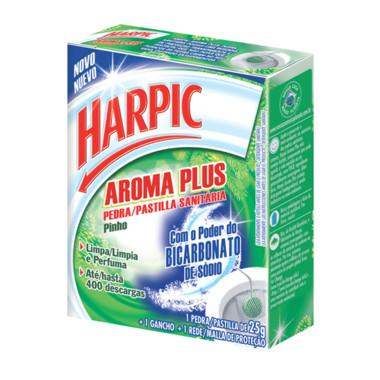 Bloco Sanitário Harpic Aroma Plus Pinho com Rede 25g