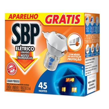 Repelente Elétrico SBP Noites Tranquilas - Aparelho e Refil 2,44ml
