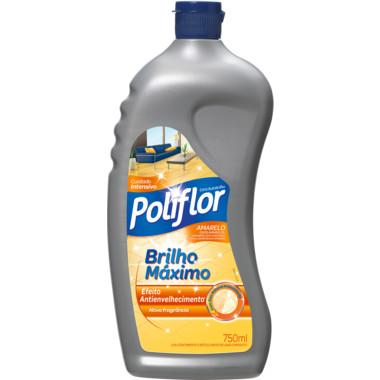 Cera Líquida Poliflor Brilho Máximo Amarelo 750ml