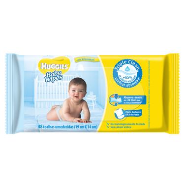 Lenço Umedecido Huggies Baby Wipes c/48