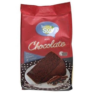 Mistura para Bolo SupraSoy Sabor Chocolate sem Glúten 0% Lactose 300g