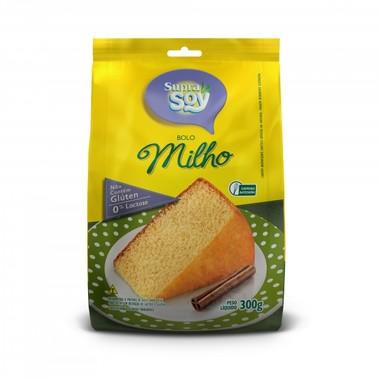 Mistura para Bolo SupraSoy Sabor Milho sem Glúten 0% Lactose 300g