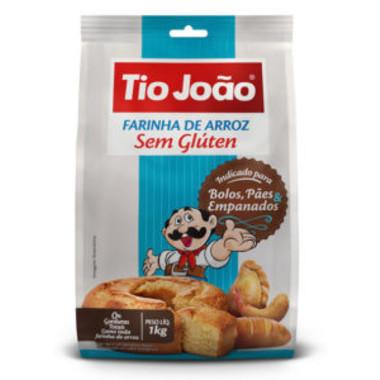 Farinha de Arroz Tio João sem Glúten 1Kg