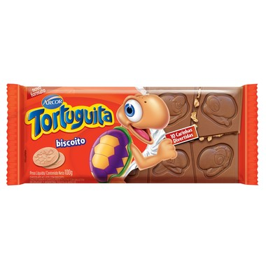 Chocolate Tortuguita com Biscoito 100g