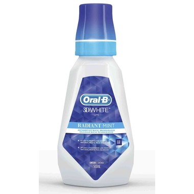 Antisséptico Bucal Oral-B Branqueador 3D White Luxe Radiant Mint 500ml