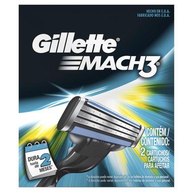 Carga para Aparelho de Barbear Gillette Mach3 Regular c/2