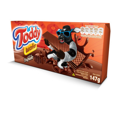 Wafer Toddy Chocolate Trufado 147g