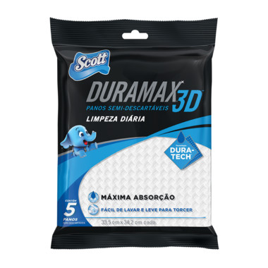 Panos Semi-Descartáveis Scott Duramax 3D Limpeza Diária c/5