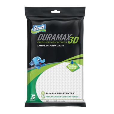 Panos Semi-Descartávis Scott Duramax 3D Limpeza Profunda c/5