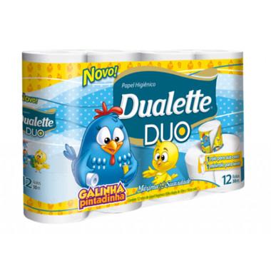 Papel Higiênico Dualette Duo Folha Dupla 30m c/12