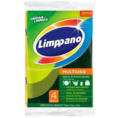 Esponja Limppano Multiuso c/4