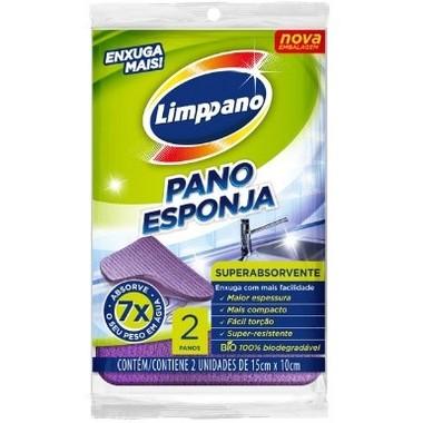 Pano Esponja Limppano Superabsorvente c/2