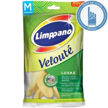 Luva Látex Limppano Velouté M