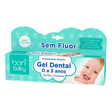 Gel Dental boni baby 0 a 3 Anos sem Flúor 50g