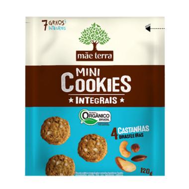 Mini Cookies Integrais Mãe Terra 4 Castanhas Brasileiras Orgânico 120g
