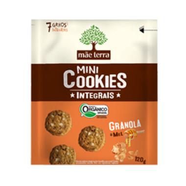 Mini Cookies Integrais Mãe Terra Granola e Mel Orgânico 120g