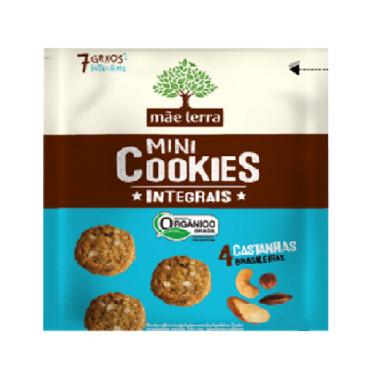 Mini Cookies Integrais Mãe Terra 4 Castanhas Brasileiras Orgânico 25g