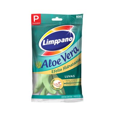 Luva Látex Limppano Aloe Vera P