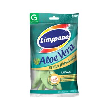 Luva Látex Limppano Aloe Vera G