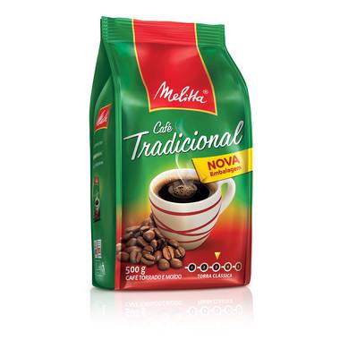 Café Melitta Tradicional Torrado e Moído Pouch 500g
