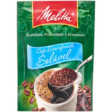 Café Solúvel Melitta Descafeinado Sachê 50g