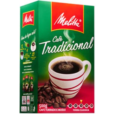 Café Melitta Torrado e Moído Tradicional Vacuo 500g