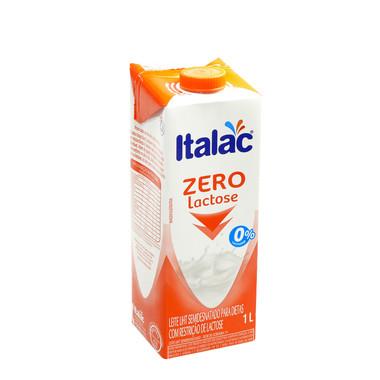 Leite UHT Italac Semidesnatado Zero Lactose com Tampa 1L