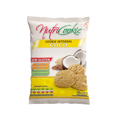 Cookie Integral Nutricookie Coco sem Glúten 120g