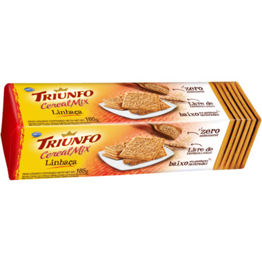 Biscoito Triunfo Cereal Mix Linhaça Cream Cracker 185g