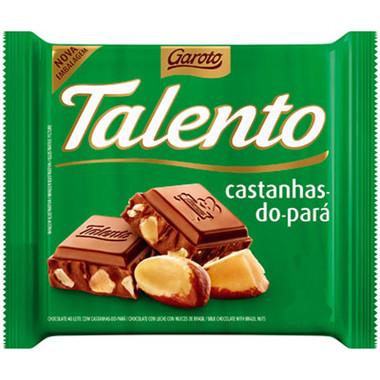 Chocolate ao Leite Talento com Castanha do Pará 90g