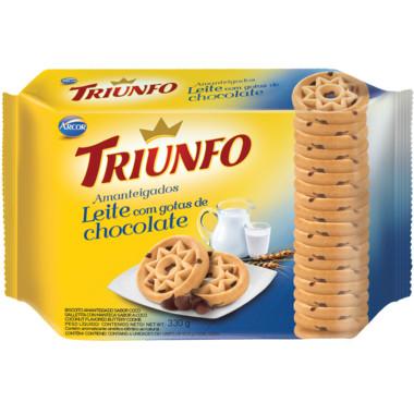 Biscoito Triunfo Amanteigados Leite com Gotas de Chocolate 330g
