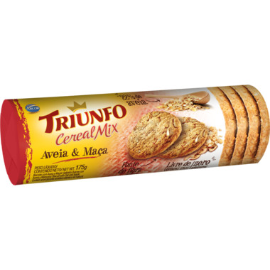 Biscoito Triunfo Cereal Mix Aveia e Maçã 175g