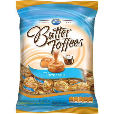 Balas Butter Toffees Leite 130g