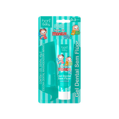 Kit Higiene Bucal Boni baby Gel Dental  e Massageador de Gengiva 0 a 3 anos sem Flúor