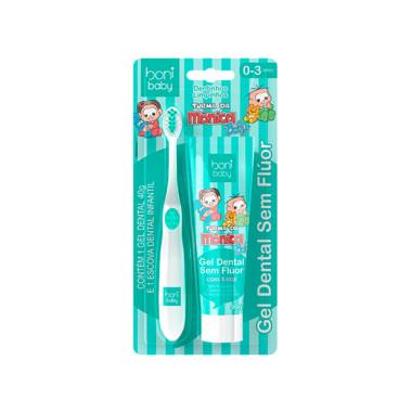 Kit Higiene Bucal Boni baby Escova e Gel Dental 0 a 3 Anos