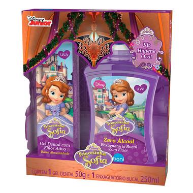 Kit Higiene Bucal boni Kids Princesinha Sofia Uva com Flúor 50g
