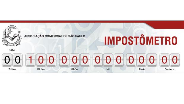 Impostômetro da ACSP atinge a marca de R$ 100 bilhões amanhã, às 12h20