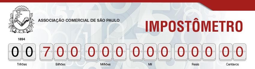 Impostômetro da ACSP chega a R$ 700 bilhões nesta segunda-feira às 8h