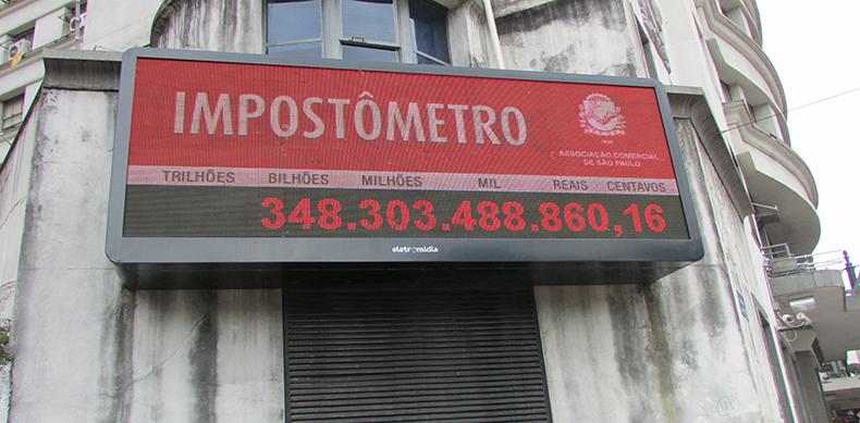 Impostômetro atinge a marca de R$ 400 bilhões dia 22/2, às 7h20