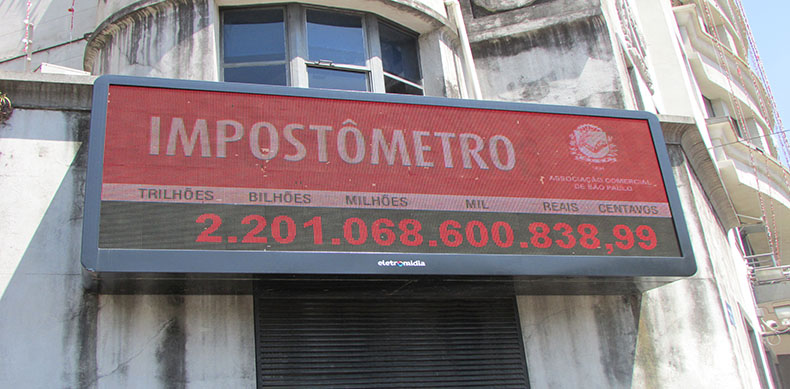 Pela primeira vez Impostômetro da ACSP marca R$ 2,2 trilhões