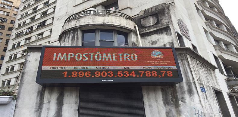 Impostômetro da ACSP bate a marca de R$ 1,9 trilhão nesta quarta-feira