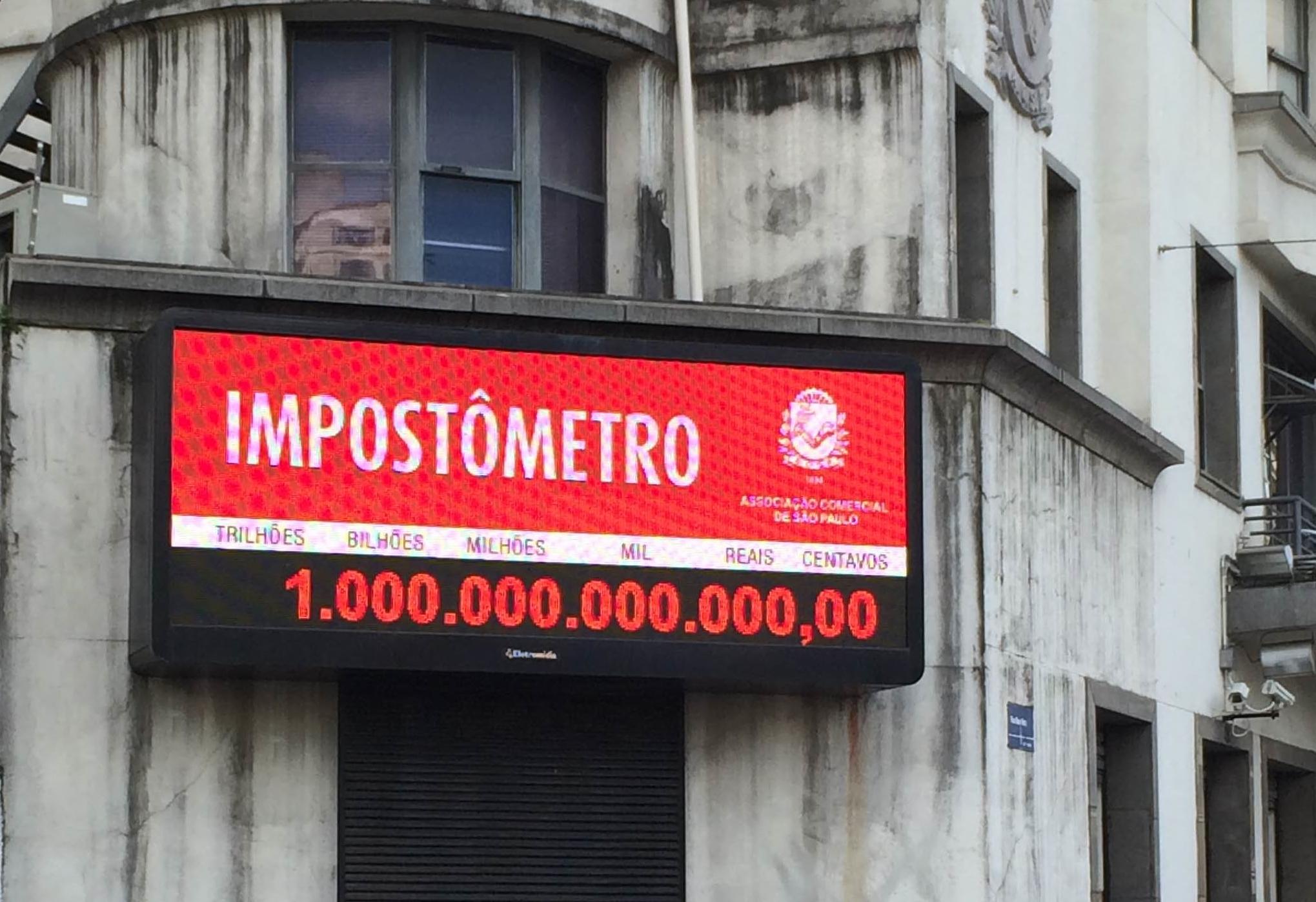 Às 8h desta sexta-feira brasileiro terá pago R$ 1 trilhão em tributo
