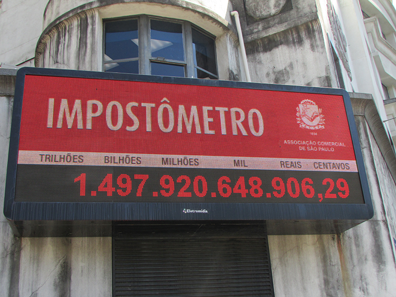 Impostômetro da ACSP chega à marca de R$ 1,5 trilhão nesta quinta
