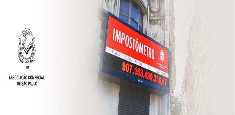 Impostômetro da ACSP atinge marca de R$ 500 bilhões nesta sexta-feira