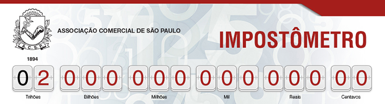 Impostômetro registra R$ 2 trilhões nesta quarta-feira (06), às 11h10