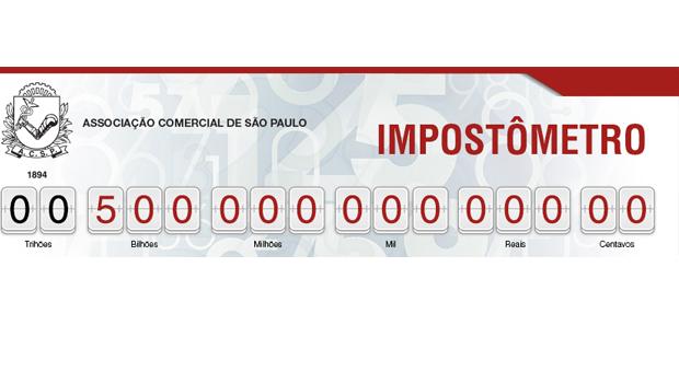 Nove dias antes do que em 2016, Impostômetro da registra R$ 500 bi