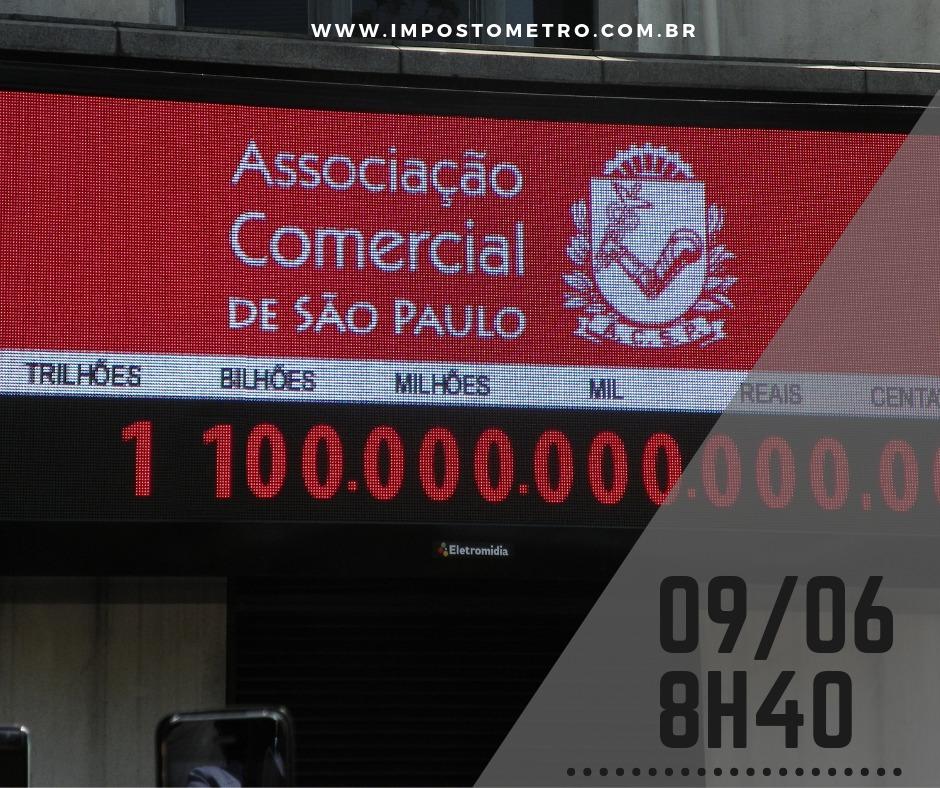 Impostômetro: neste domingo, às 8h40, o painel chega a marca de R$ 1,1