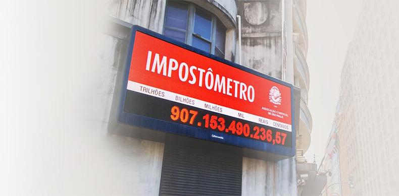 Impostômetro da ACSP: brasileiros já pagaram R$ 400 bilhões em imposto