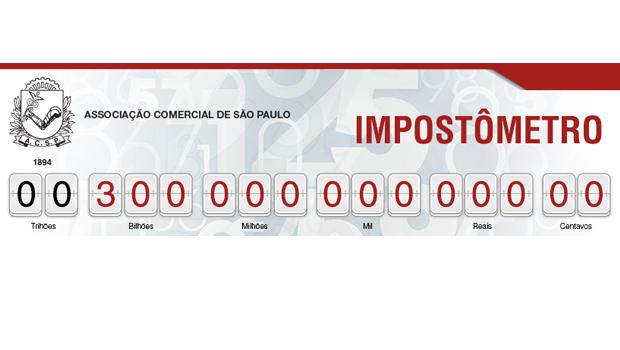 Impostômetro chega à marca de R$ 300 bilhões neste domingo, às 11h